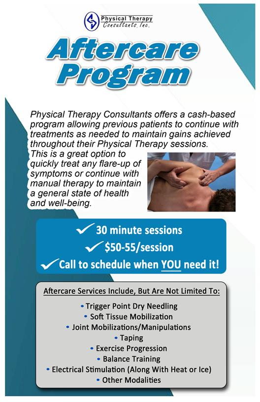 Physical Therapy Consultants Inc Athletic Trainer Outreach