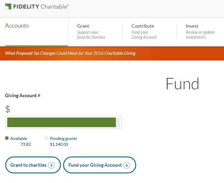 Fidelity Charitable Homepage
