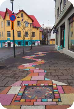reykjavik sidewalk