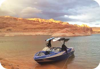 wakeboard boat powell lake