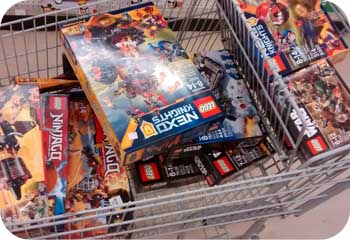 cart full of lego