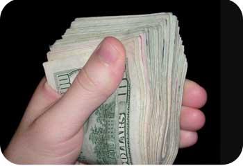 fistful of cash