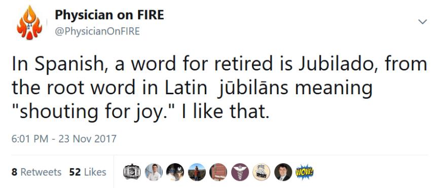 Jubilado Tweet