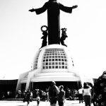 Cristo Rey in black and white