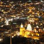 Our Lady of Guanajuato Church at night