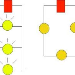 Led Christmas Light String Wiring Diagram 3 Phase Ac Contactor Ask A Physicist Answers The Bulbs In Parallel Circuit To Left Are Much Brighter Than