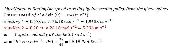 Pulley Speed Calculator