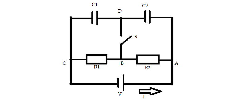Find the Voltage in the parallel resistor-capacitor