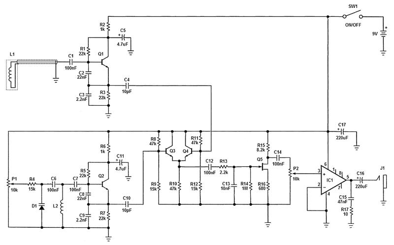 bfo metal detector no2 schematic