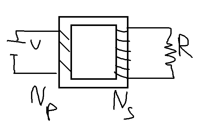Battery with voltage V=12V is connected to the primary of