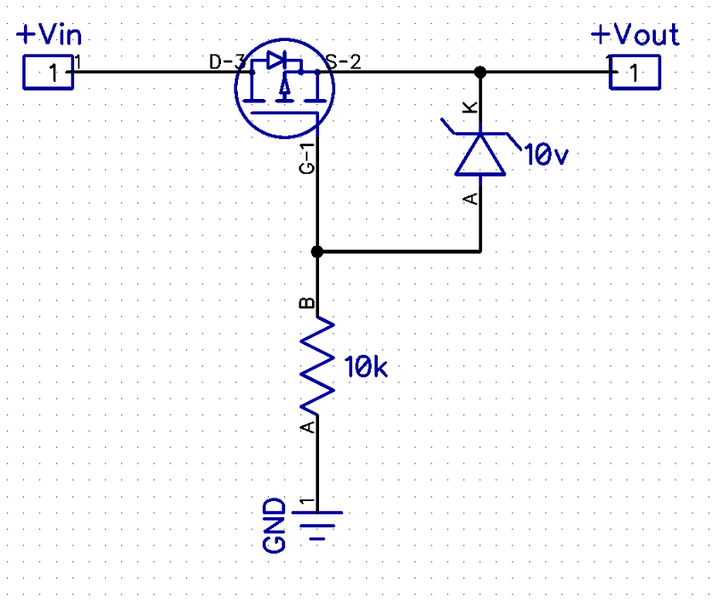 Reverse polarity protection circuit. Help with component