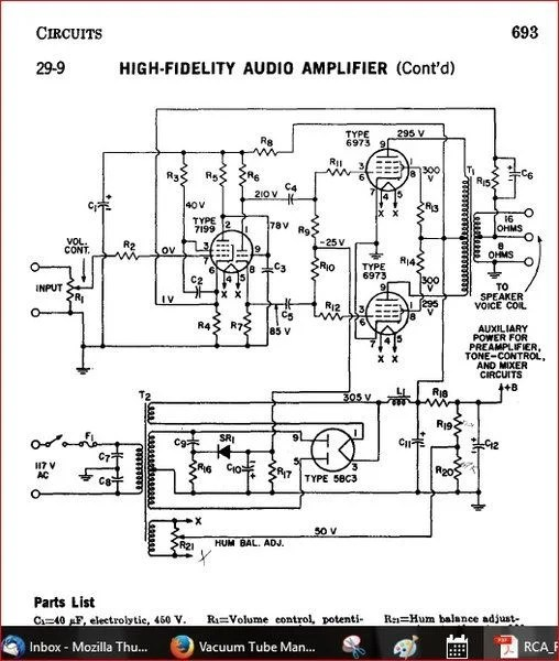 Help with finding vintage valve amplifier circuits