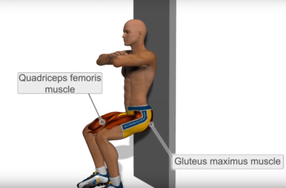 Image result for wall sit exercise