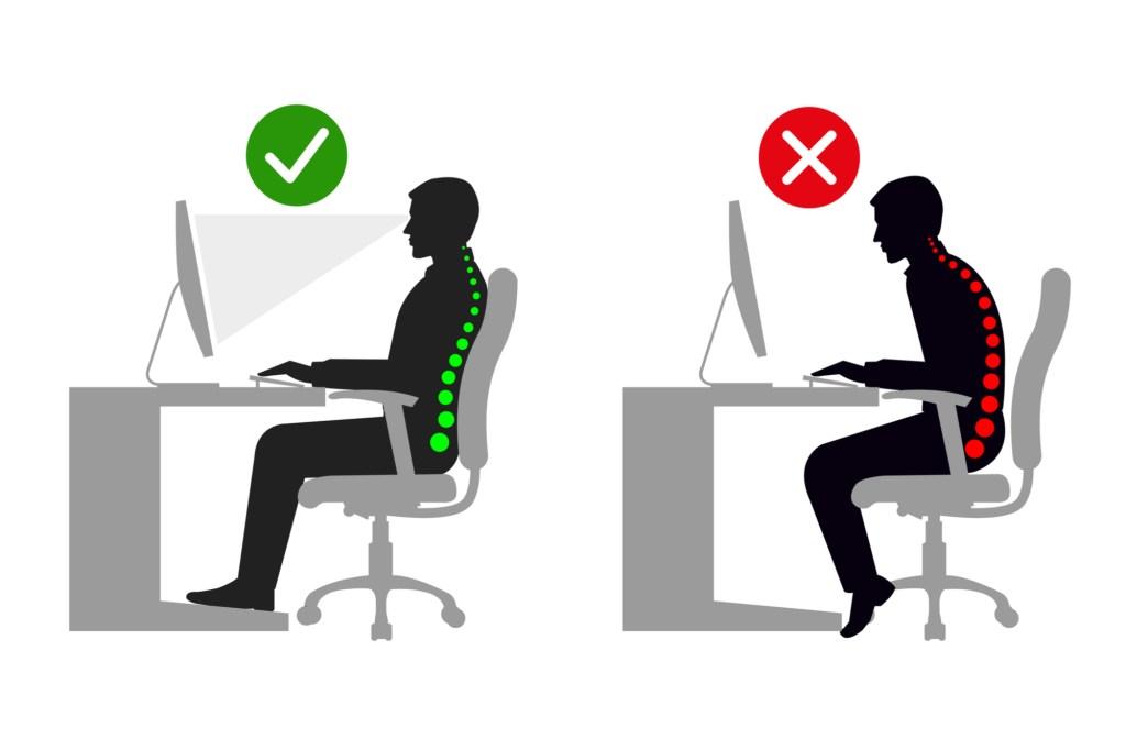 Good Posture v Poor Posture