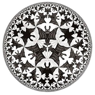 埃舍尔 escher 视觉 错觉 艺术 数学 非欧几何 庞加莱