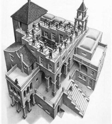埃舍尔 escher 视觉 错觉 艺术