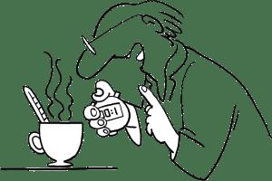 Illustration: Messen, wie der Tee abkühlt