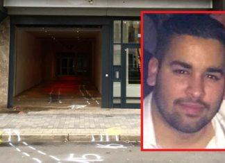 Eingangsbereich der Diskothek, wo Ali Mohand Abderrahman (Foto, rechts) einen Menschen totfahren wollten.
