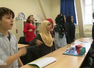Sprachlernklasse am Osnabrücker Ratsgymnasium (Screenshot des NDR-Beitrages).