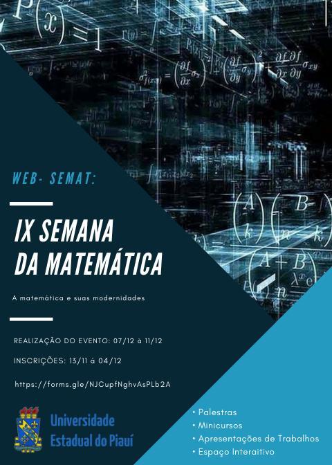 a 22 Uespi de Teresina realiza Semana de Matemática