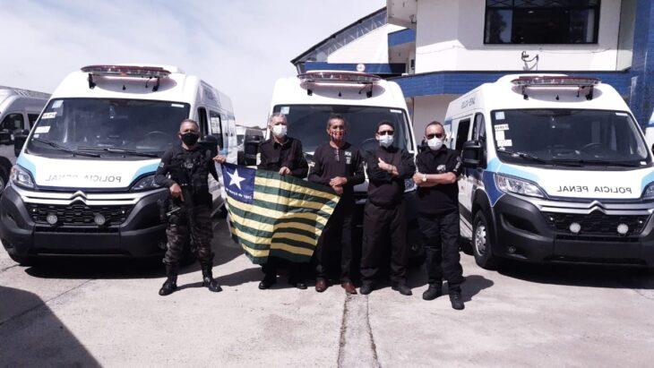 sejus ve%C3%ADculos Piauí recebe ônibus e viaturas do Departamento Penitenciário Nacional