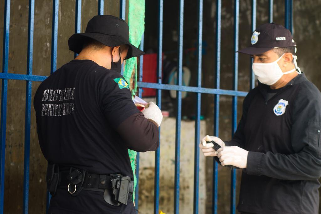 Vistoria Penitenciaria Picos 2 Polícia Penal faz vistoria e retira ilícitos da Penitenciária de Picos