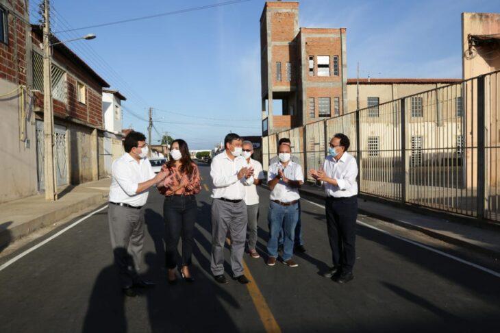 WhatsApp Image 2021 01 21 at 08.39.37 1 Wellington inaugura pavimentação de ruas em São João do Piauí