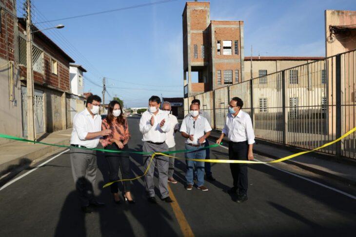 WhatsApp Image 2021 01 21 at 08.39.37 Wellington inaugura pavimentação de ruas em São João do Piauí