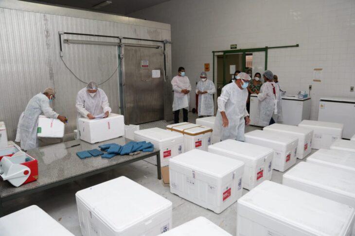 rede de frios coronavac 3 Governo distribuirá vacinas via terrestre e aérea para cidades do interior do Piauí
