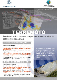 Terremoto - Seminari sulla recente sequenza sismica che ha colpito l'italia centrale