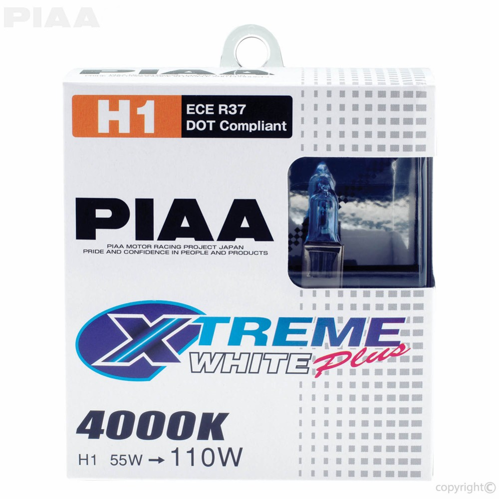 medium resolution of  piaa h1 xtreme white bulbs packaging