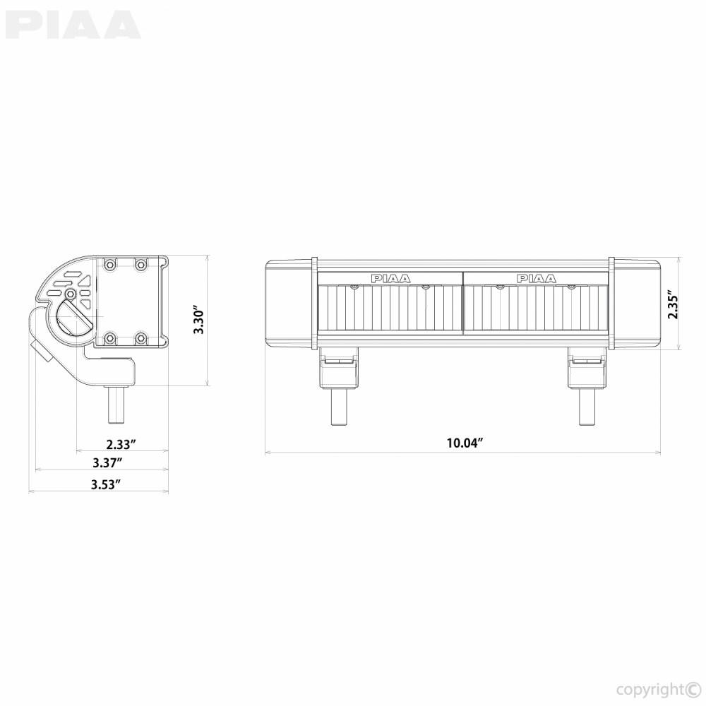 piaa rf series 10 led light bar white fog beam single sae compliant  [ 1000 x 1000 Pixel ]