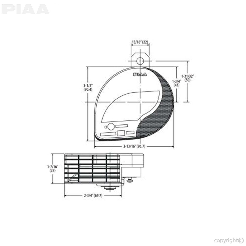 medium resolution of piaa automotive slim sports horn 400 500hz 85114 rh piaa com air lift wiring diagram can light wiring diagram