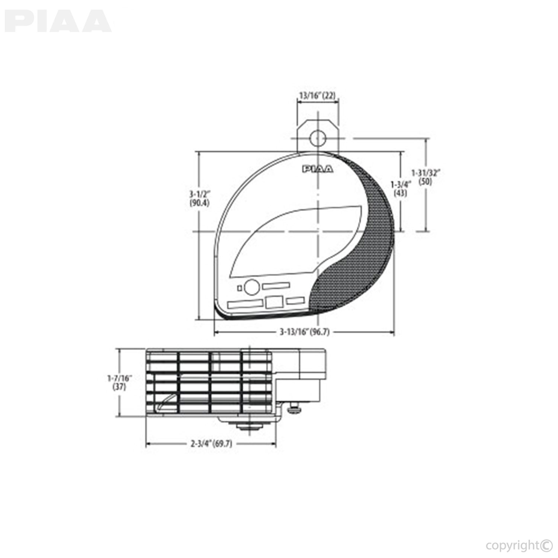 small resolution of piaa automotive slim sports horn 400 500hz 85114 rh piaa com air lift wiring diagram can light wiring diagram