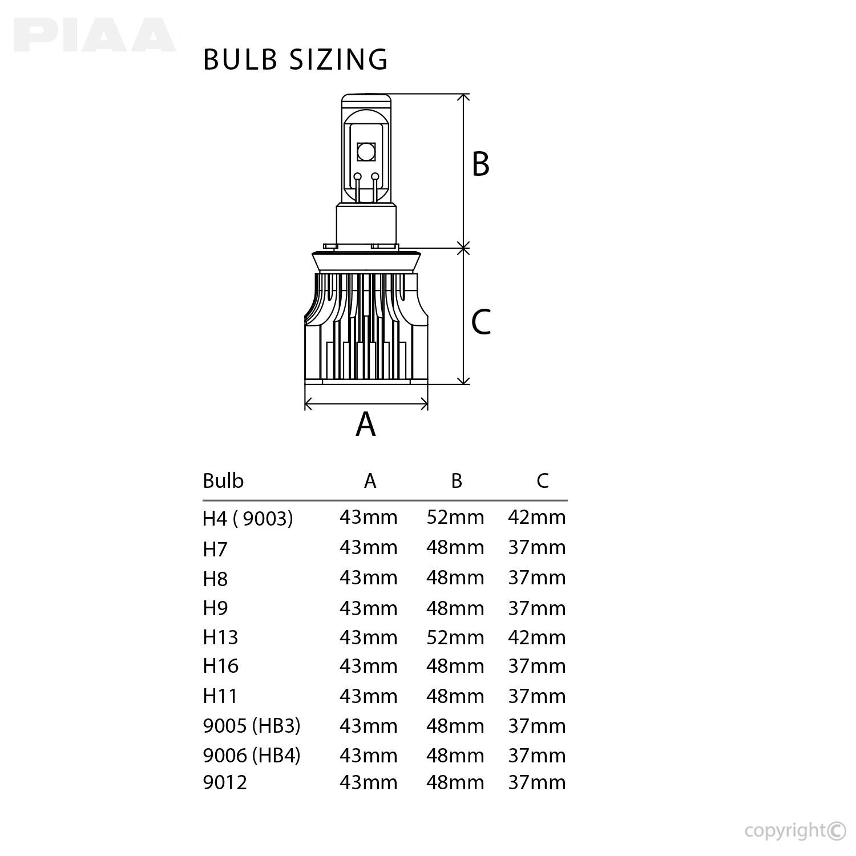 hight resolution of h11 g3 led bulbs twin pack rh piaa com h7 bulb h3 bulb