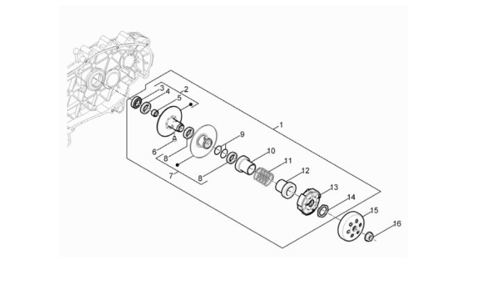 Koppeling (compleet) Piaggio / Vespa IGET 3v (Euro 4