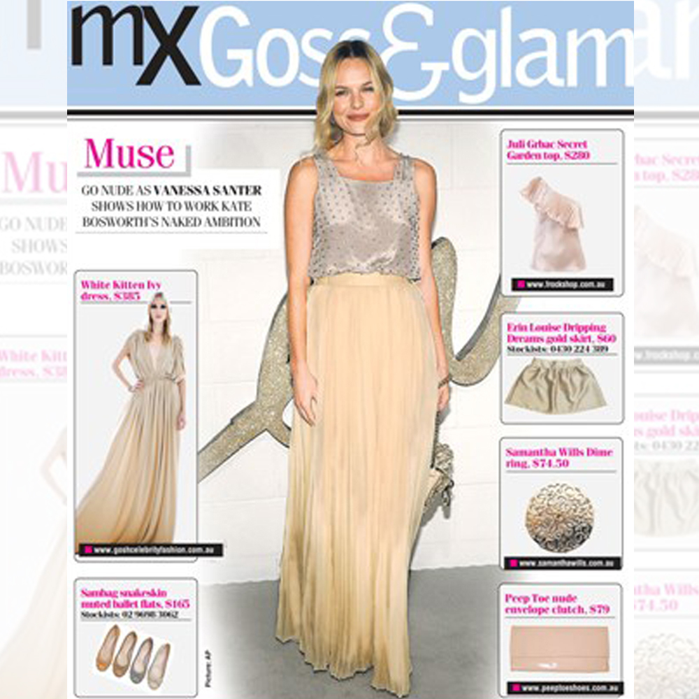 Ivy long dress featured on MX magazine