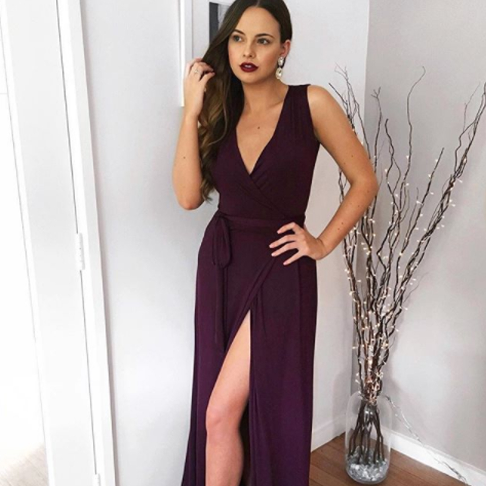 Law student and model Olivia Rose wearing our paloma dress