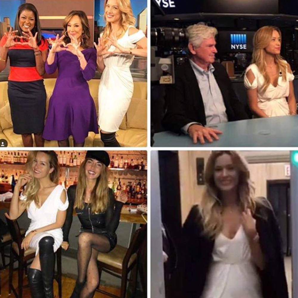 Petra Nemcova guesting at Good Day New York and then #NYSE after wearing our Gigi dress to talk about her foundation