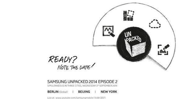 Galaxy Note 4: presentazione ufficiale il 3 Settembre a