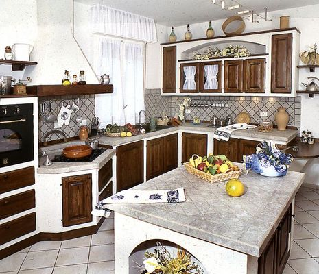 Cucine in finta muratura