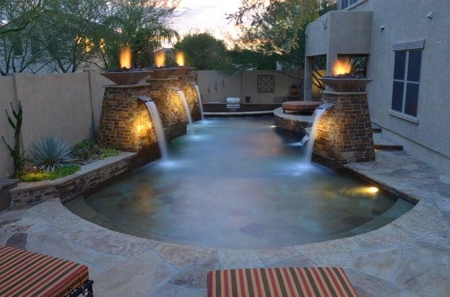 Fontane e Cascate per piscine
