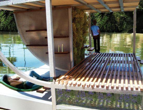 Casa ecologica galleggiante