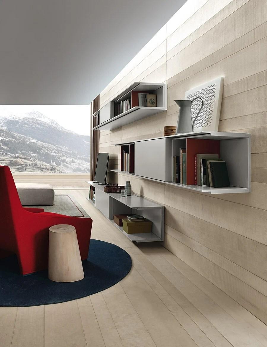 La parete attrezzata living 07 di arredo3 starà alla perfezione in un soggiorno funzionale e di grande valore estetico: 100 Fantastiche Foto Ed Idee Di Pareti Attrezzate