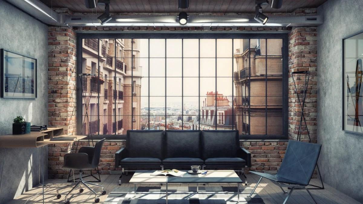 Le idee pi creative per un soggiorno in stile industriale