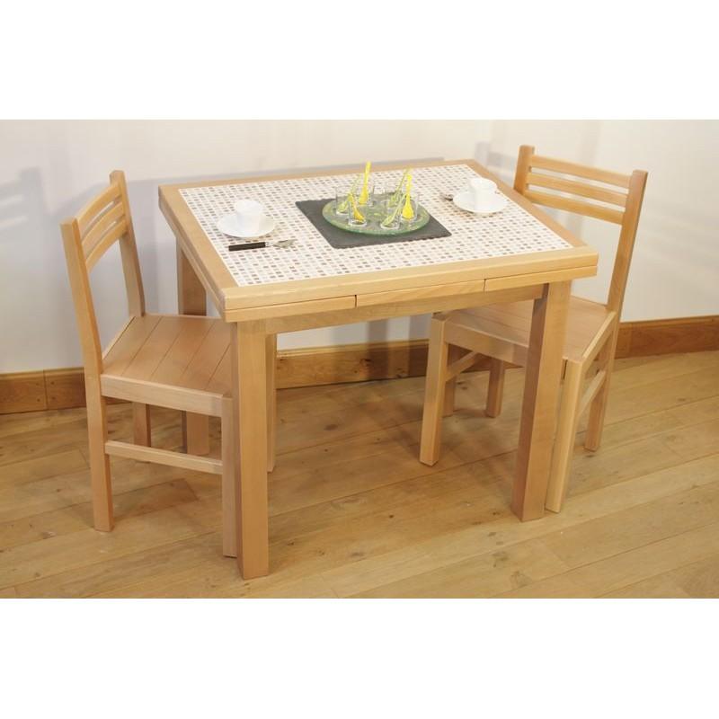 table cuisine carrelée