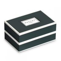 Dalvey Leather Travel Cufflink Holder & Cufflinks