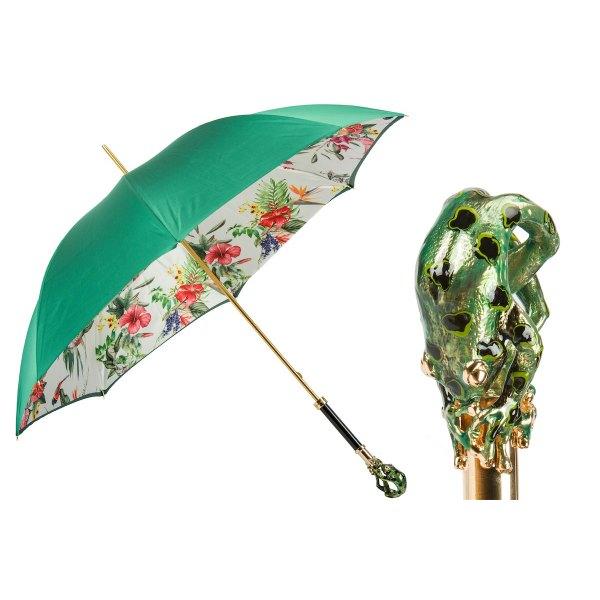 Pasotti Ombrelli Tropical Luxury Women' Umbrella - Frog