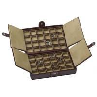 Underwood Leather Cufflinks Box - 48 Set Storage Case