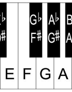 Click For Large Printable Piano Keys Template With Sharps And Flats Also Keyboard Layout Rh Guide